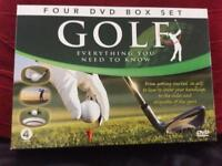 GOLF - EVERYTHING YOU NEED TO KNOW - FOUR DVD BOX SET + HARDBACK BOOK