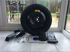 Yaris space saver wheel & tyre new with jack etc £70