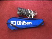 Wilson Tour Gear Full Kit, 4 Racket Badminton Set With Net, Post & Shuttles