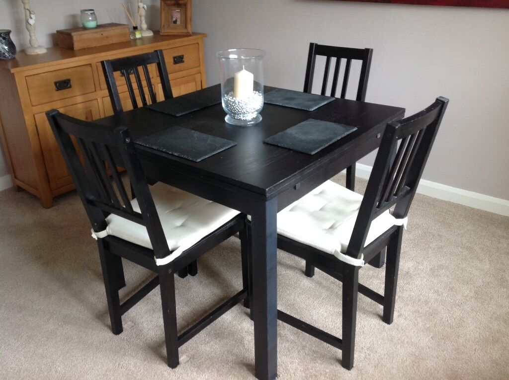 ikea bjursta extendable dining table and matching 4 chairs in reading berkshire gumtree. Black Bedroom Furniture Sets. Home Design Ideas
