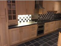 Complete Kitchen ( Cabinets / Cupboards / Worktops / Cooker & Hood / Hob )