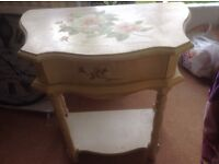 LOVELY SHABBY CHIC FLOWER PAINTED CABINET. upcycle project