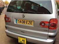 7 seater automatic VW sharan (silver) 2008 with or without plate
