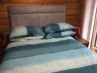 Double bed with headboard for sale - excellent quality