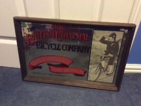 Vintage advertising mirror