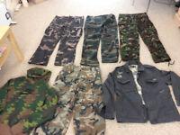 camoflash milityry bundle clothes