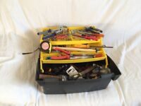 Stanley tool box with tools