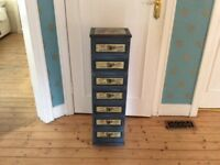 Handpainted vintage tall chest