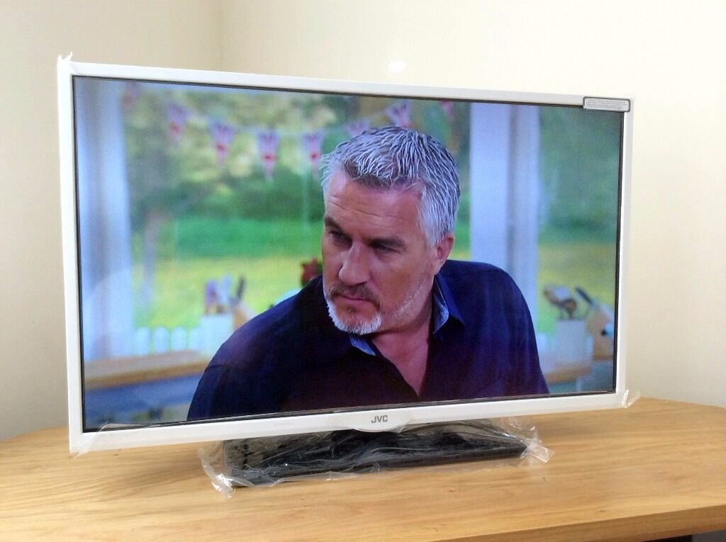 "JVC 32"" inch HD LED TVDVD built in, freeview, USB recordin Basford, NottinghamshireGumtree - JVC 32"" LED Backlit TV in perfect working order and brand new condition. Still has protective film on! Comes as pictured, TV is white and stand is black. Remote and power lead is supplied. Spec Freeview built in DVD Player built in! Record TV..."