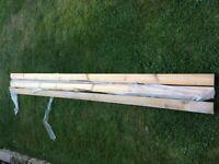 3 x 2.40m pine skirting board