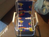 Childrens folding deck chair