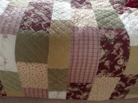 Stunning patchwork bedspread