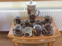 Briglin vintage coffee set.. never used