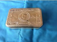 Antique Collectable 1914 Queen Mary Army Personnel Christmas Gift Box.