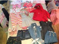 GIrls bundle of clothes (mix of 0-12 months) Ted Baker, Gap, Next etc