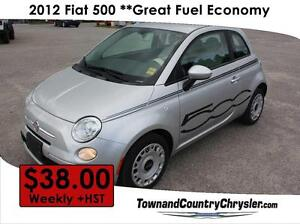 2012 FIAT 500 Pop **ONLY $38.00 Weekly!!!! (Plus HST)