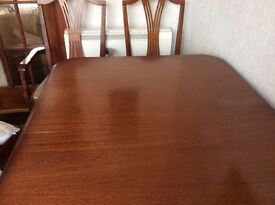 Mahogany dinning table 6 chairs
