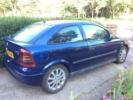 2003 Vauxhall Astra SXI 1.6 hatchback. 4,383 miles, 10 months Mot, full service history.