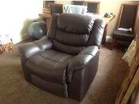 Leather recliner seat/chair