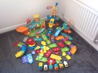 VTech construction, airport, garage, addition tracks and cars