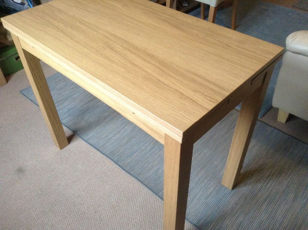 REDUCED IKEA BJURSTA Extendable Table Oak Veneer Small Dining Table Or Des