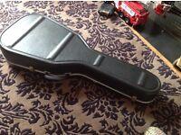 His cox guitar case