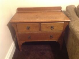 Traditional real wood chest of draws
