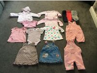 A little bundle of girls clothes in a size Newborn/0-3 months is good condition 14 items in total.