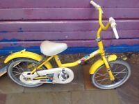 Raleigh yellow retro bike
