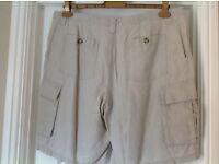 """Monsoon Linen Shorts 36"""" Waist"""