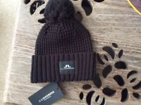 J. LINDEBERG Men's golf bobble hat, brand new with tags, one size.