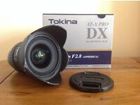 Tokina 11-16mm f/2.8 ATX PRO DX Lens - Nikon Fit