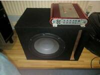 Subwoofer box enclosure 12 car audio