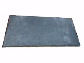 Thick chiselled edge natural riven Blue / Black SLATE Hearth 800MM X 380MM