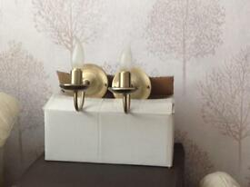 Lacquered wall lights vgc £20