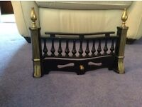 Cast Iron Fret Front Fire Grate - Black and Gold