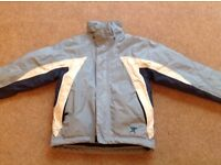 Pale blue & white ski jacket from mountain warehouse, age 5-6, good condition. £10