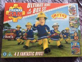 **NEW** Fireman Sam - 4 dvd box set
