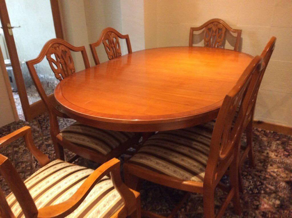 MATCHING REPRODUCTION YEW DINING ROOM FURNITURE. MATCHING REPRODUCTION YEW DINING ROOM FURNITURE   in Dukinfield