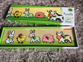 Wooden boxed children's puzzle