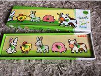 Wooden boxed children's puzzle