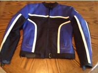 Frank Thomas ladies leather and textile motorcycle jacket -size 10