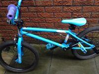 Mongoose bmx bike 20 inch wheels hardly used spotless