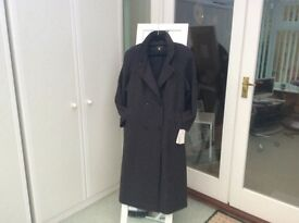 Lovely good quality wool ladies maxi coat 16/18 brand new