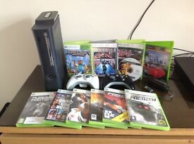 Xbox 360 with 11 games and adapt or complete bundle