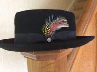 Hat : Gamble&Gunn hat. Walter White's Heisenberg Breaking Bad style Porkpie Hat Size 7medium, 57cm
