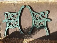ORIGINAL VICTORIAN CAST IRON BENCH ENDS