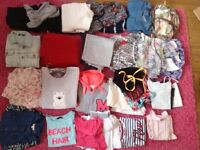 Extra large bag of girls clothes including jackets dresses jumpers joggers pyjamas and more