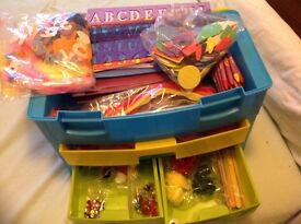 KIDS CRAFT CASE AND CONTENTS - FULL OF WONDERFUL STUFF