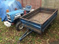 Ford 1200 4x4 compact tractor with tipper trailer